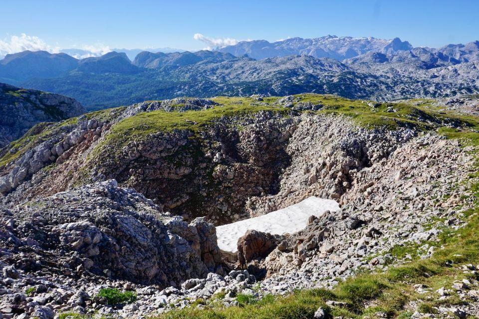 Ein kleiner Gletscher ist am Schneibstein geblieben