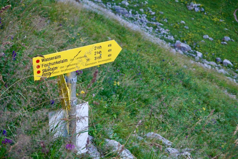Gut ausgeschildert ist jeder Wanderweg in den Berchtesgadener Alpen
