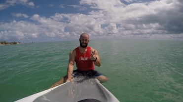 Prone Paddle Session at Sombrero Beach