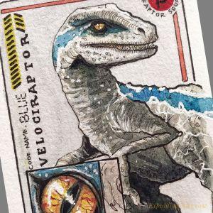 Ilustración de dinosaurio de Coco Rodrigo para Expedition Diary