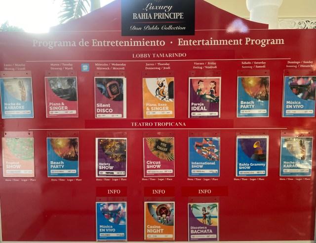 Bahia Principe Daily Entertainment Program