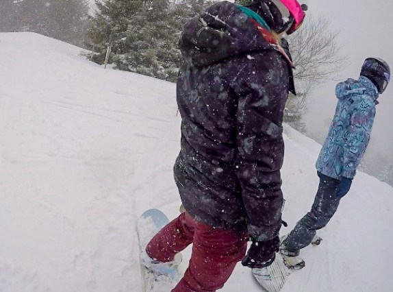 A Bunch of Snowboarders