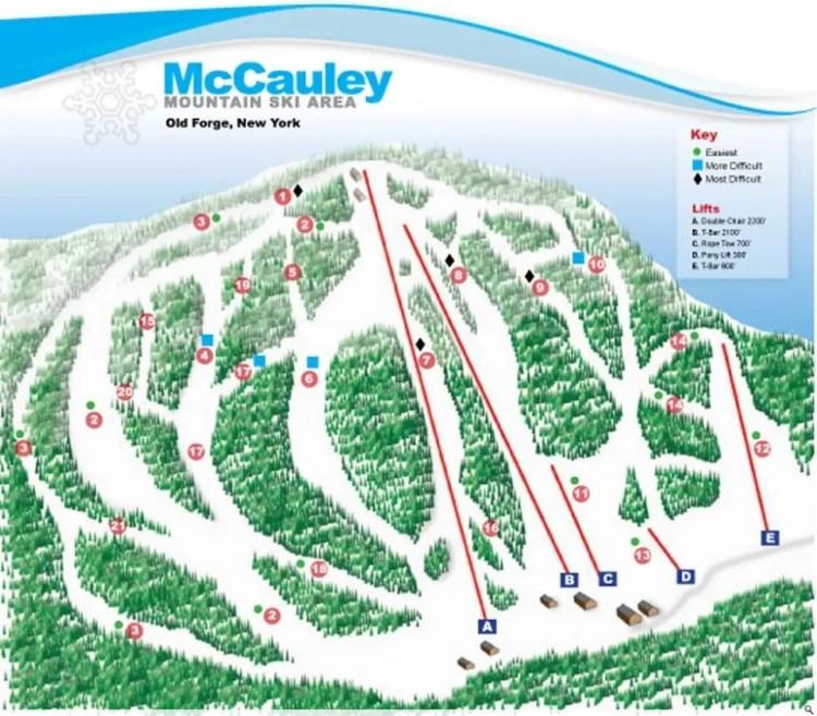 McCauley Mountain Trail Map