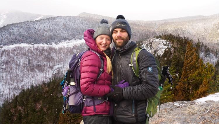 Beautiful Bear Den Mountain in Winter