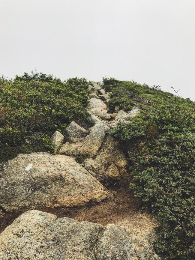 Straight up Mount Katahdin