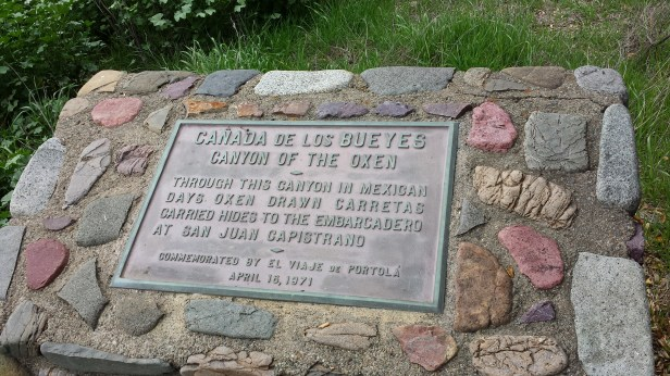 memorial in the middle of the canyon