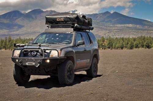 small resolution of the most recent mod to the xterra is a complete 100 watt solar kit by renology in a somewhat brave moment joel drilled into his factory hood to mount the