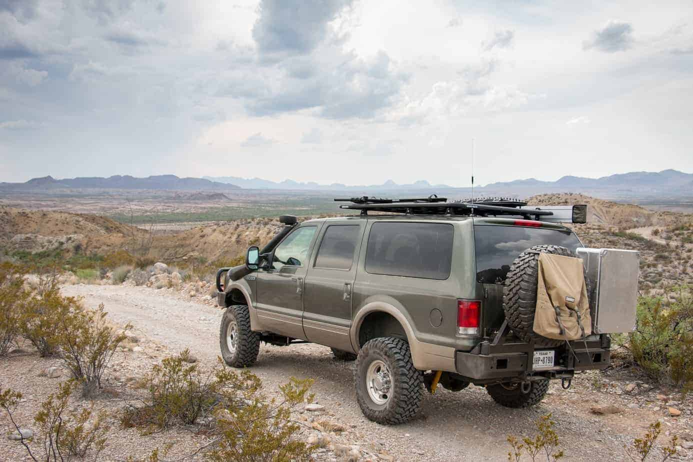 ford excursion roof rack with ladder