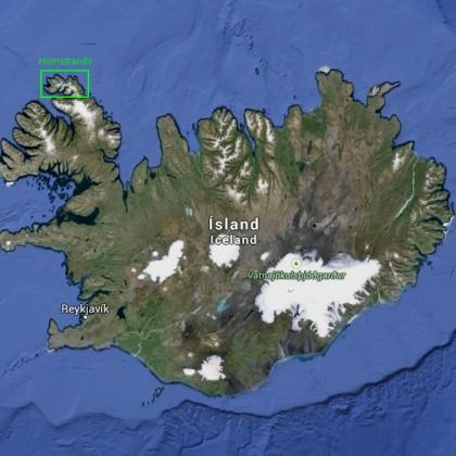 Islandia i park narodowy Hornstrandir.