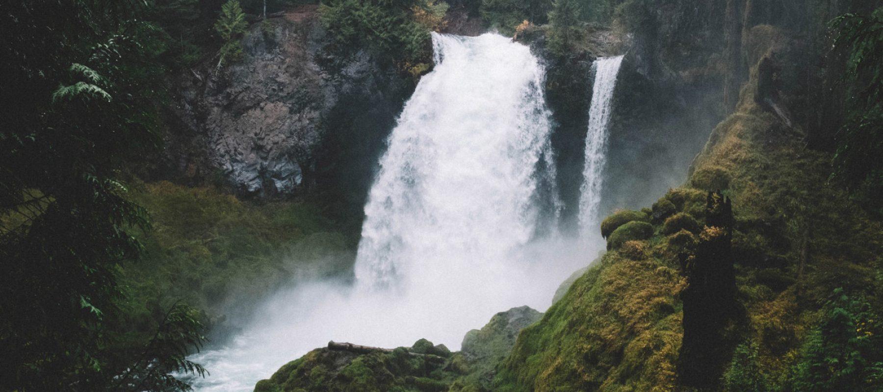 Une chute d'eau