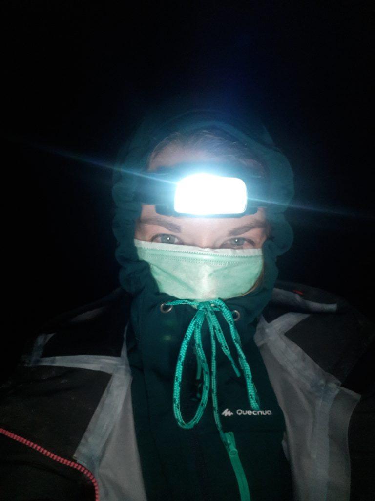 Selfie avant la descente dans le cratère du Kawah Ijen