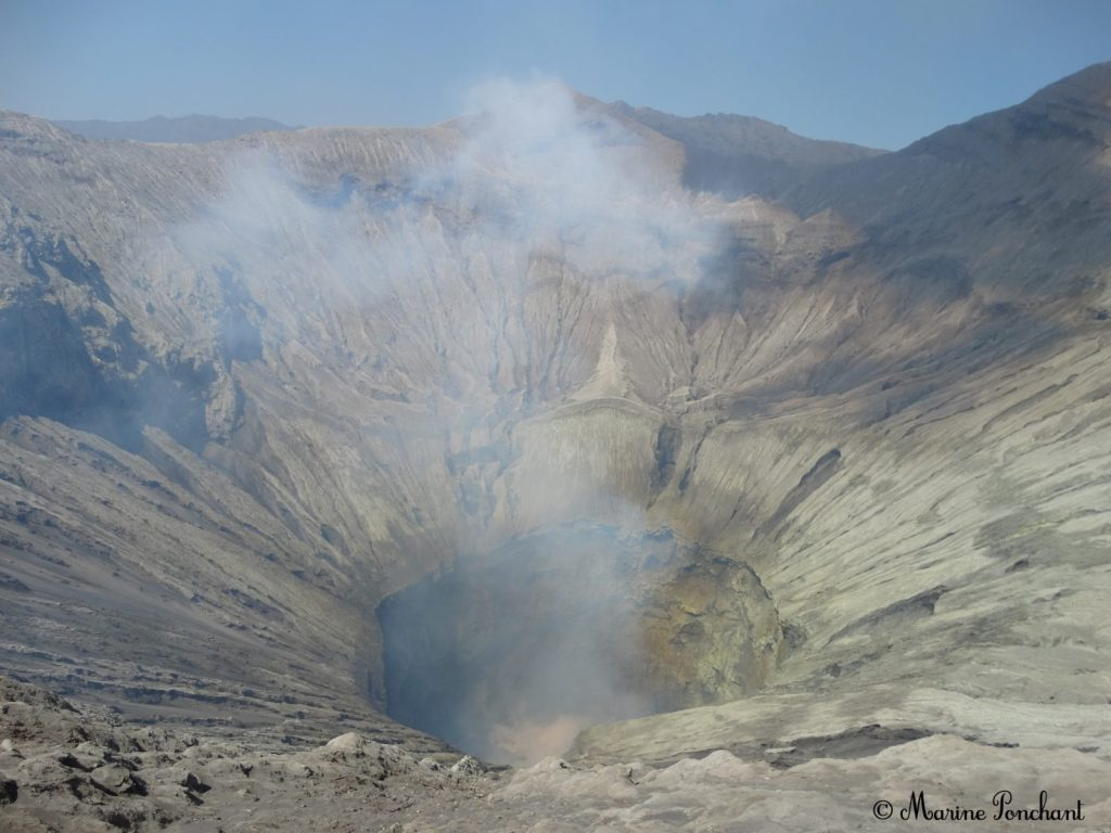 Photo du cratère du volcan Bromo