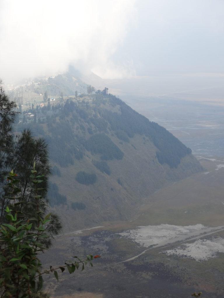 Photographie des falaises autour de la caldeira