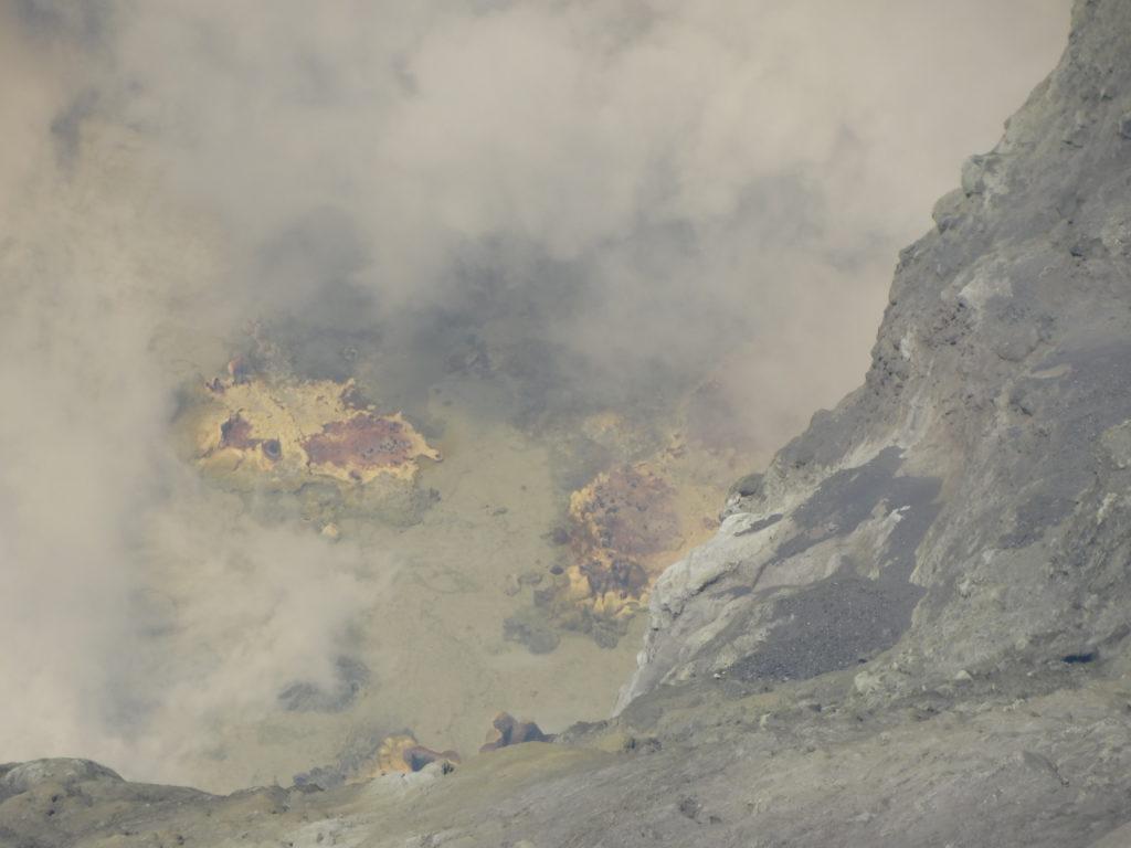 Souffre au fond du cratère