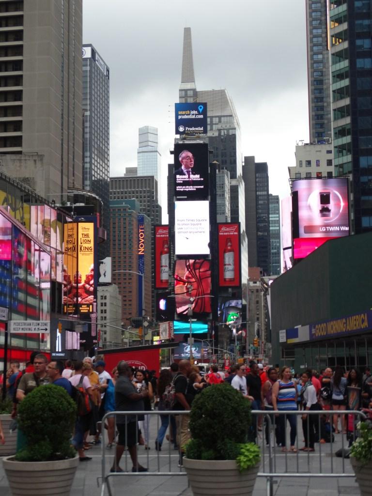New york et le célèbre Times Square