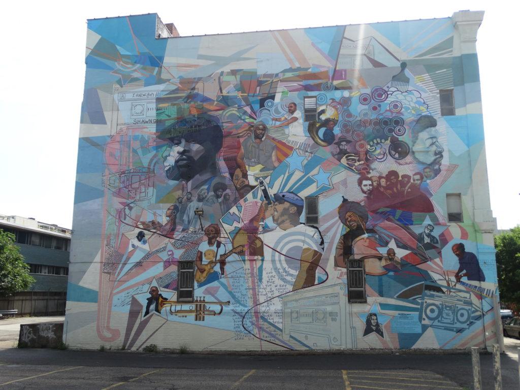 Fresque mural stars