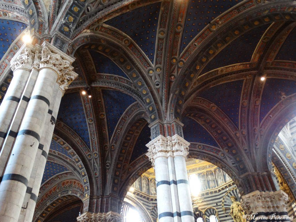 plafond étoilé cathédrale sienne
