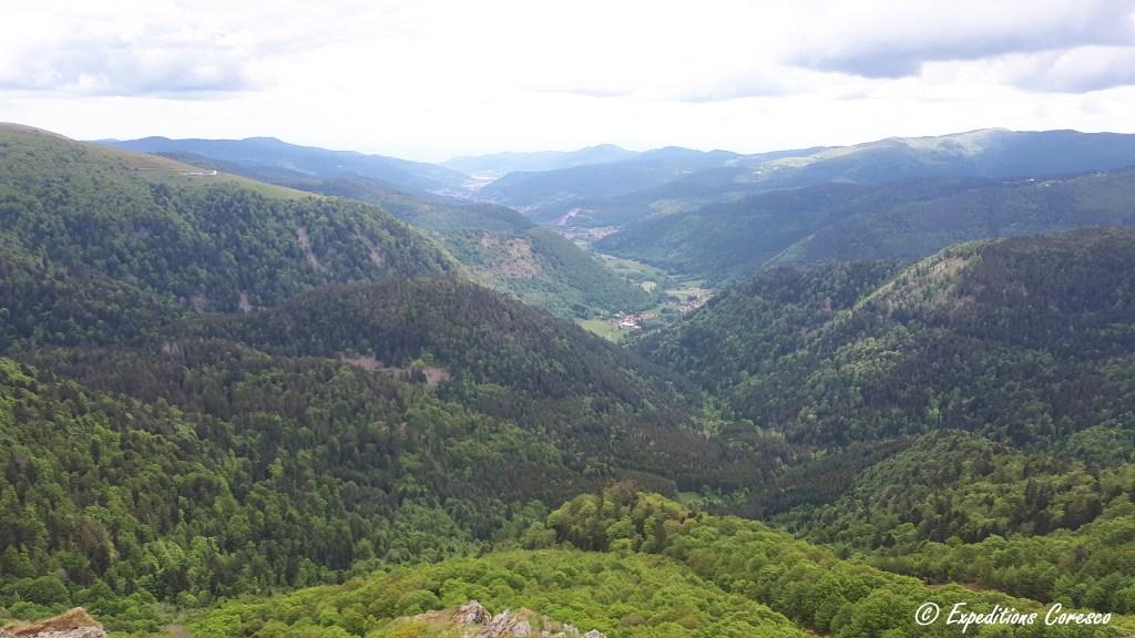 panorama du haut des crêtes