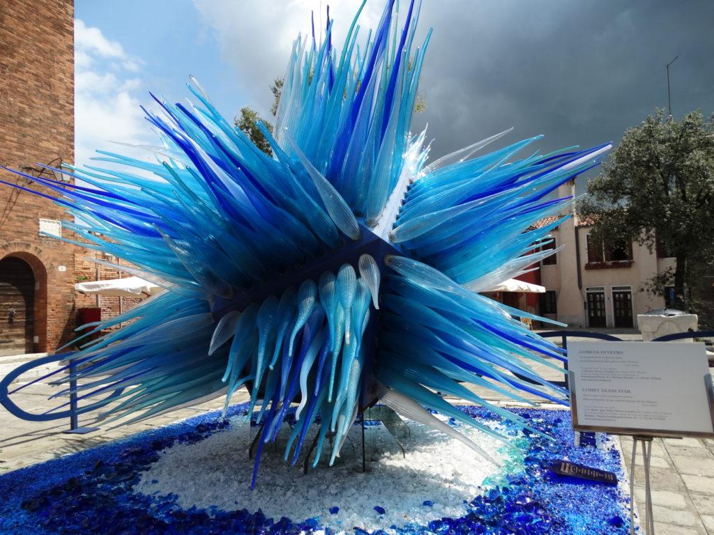 Sculpture en verre de Murano