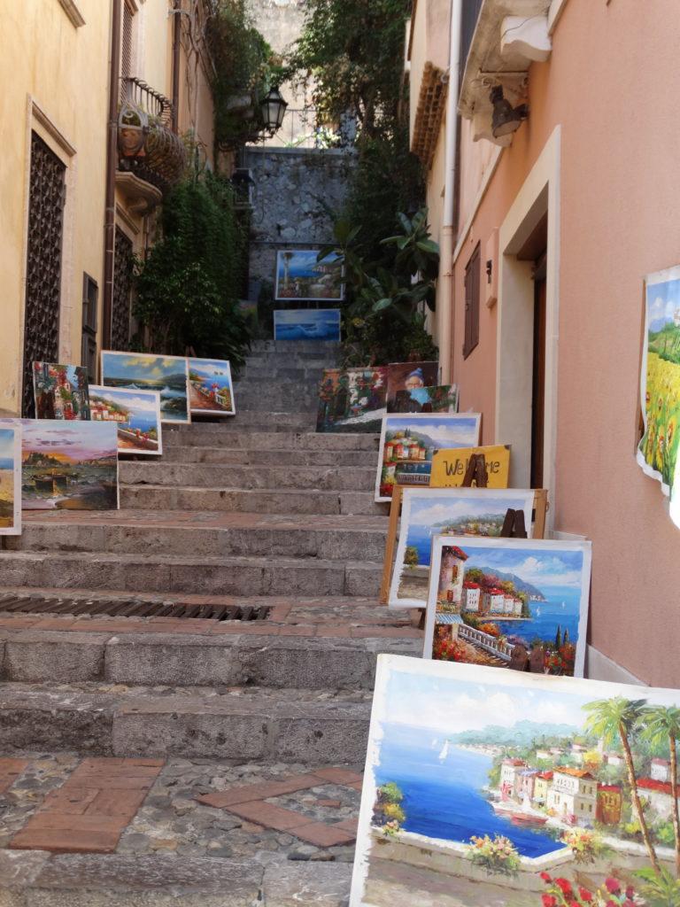 galerie d'art dans les ruelles
