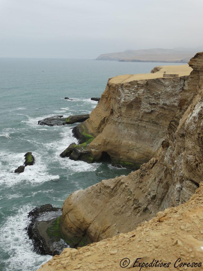Falaise de la côte de Paracas