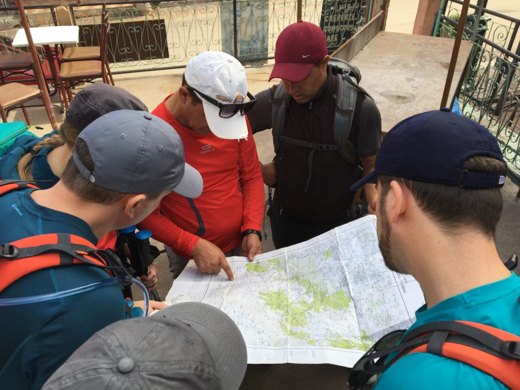 Carte avant le départ