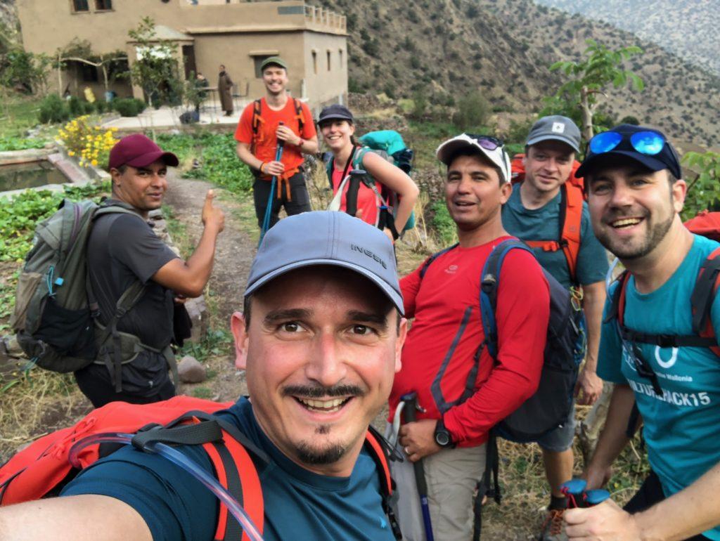 selfie groupe j1 trek