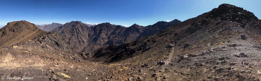 Vue sommet Toubkal trek