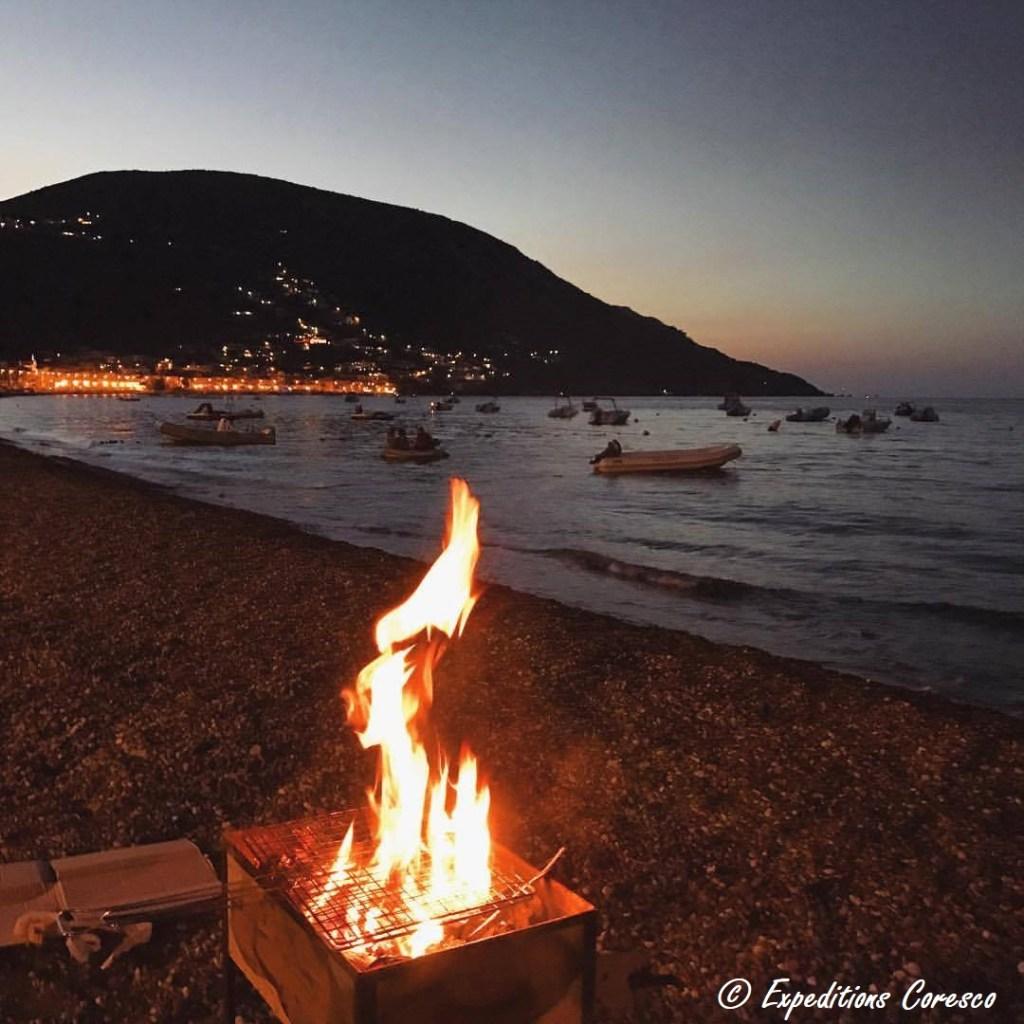 Barbecue plage lipari