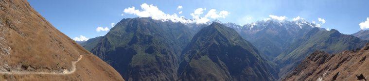 Panorama début du trek Choquequirao