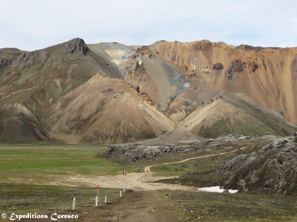 Couleurs de roches colorées dans le Landmannalaugar
