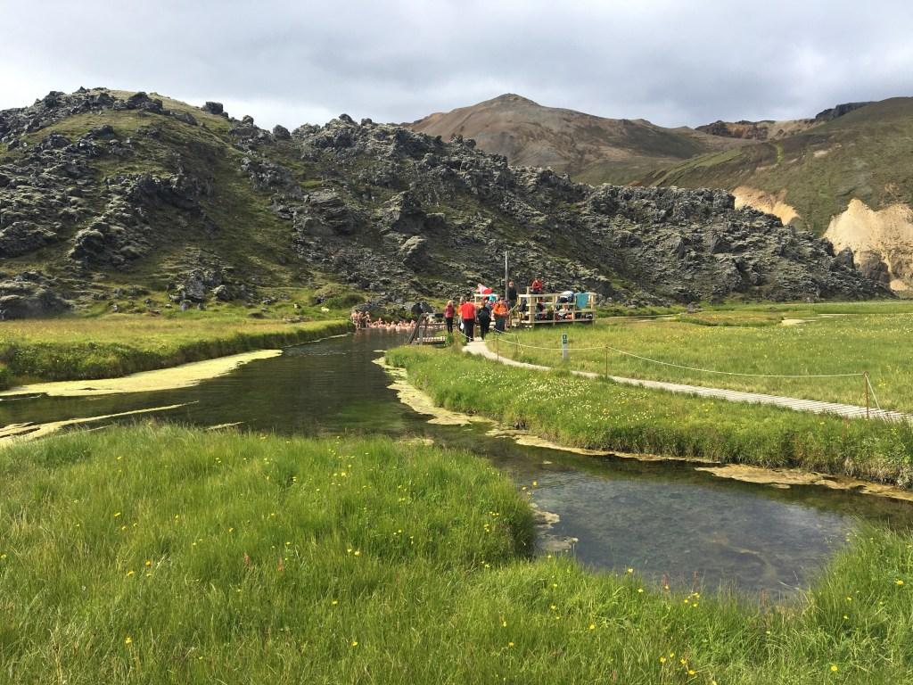 Sources chaudes naturelles au départ du Laugavegur