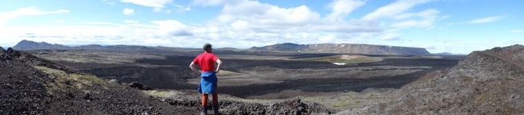 Panorama volcanique Islandais