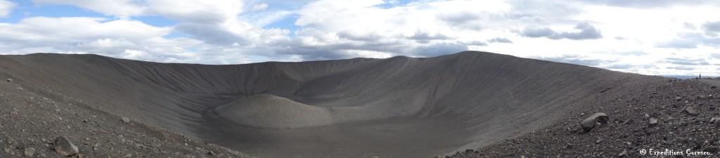 Cratère volcan Myvatn Islande