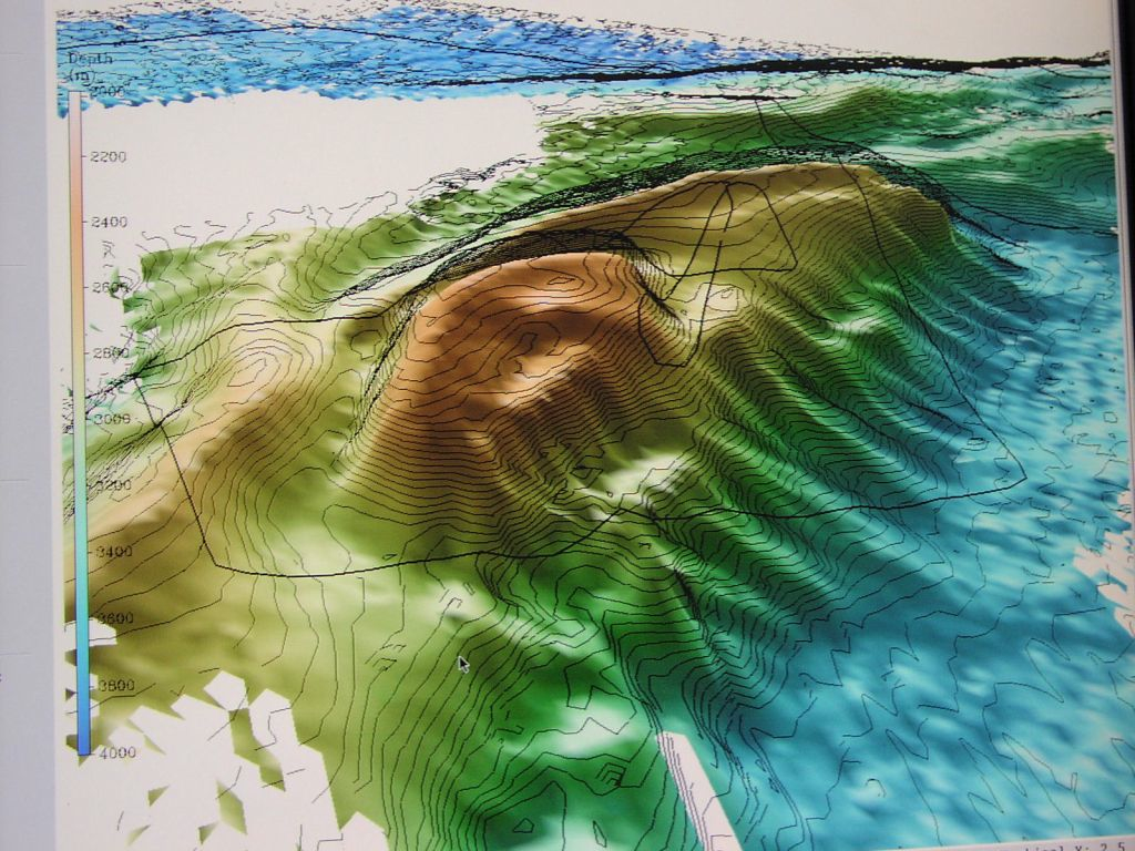 Ocean Floor Topography Map