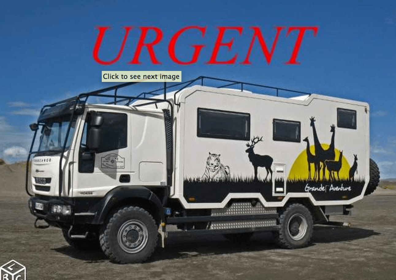sold urgent camping car truck iveco 4x4 france expedition vehicles for sale. Black Bedroom Furniture Sets. Home Design Ideas