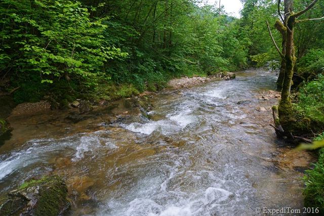 White water cascades