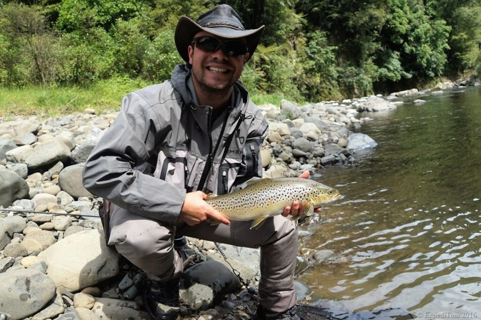 Fly fishing all around the world: Brown trout from a New Zealand backcountry river