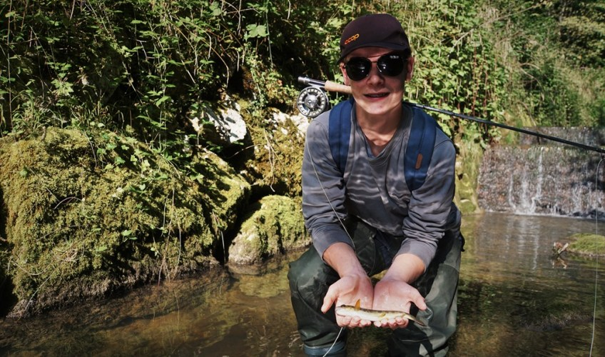 Andy's very first trout