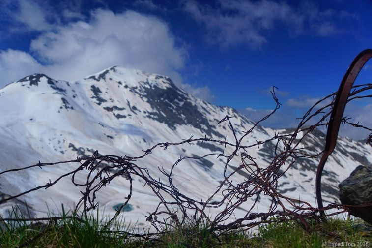 Barbed wire on the Stelvio Pass