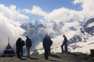 Stelvio Pass view to the Italian Alps