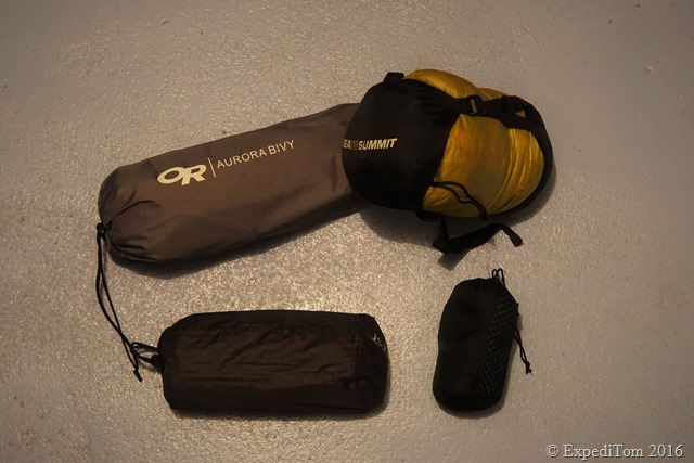 Packing List for a Two Days Fly Fishing Trip sleeping setup