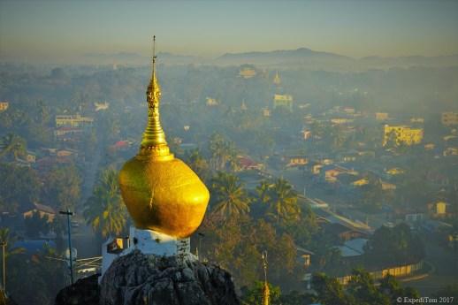 Golden Stone Taung Kwe Pagoda Loikaw Myanmar
