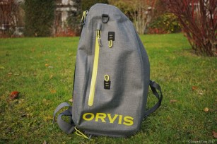 The Orvis waterproof sling pack
