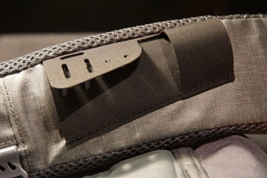 Front attachment points of the Orvis waterproof sling pack