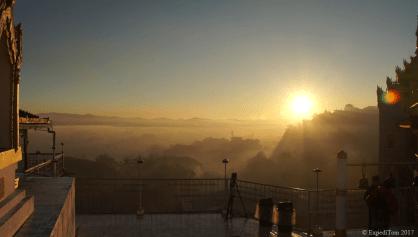Sunrise at the Taung Kwe Pagoda Loikaw Myanmar
