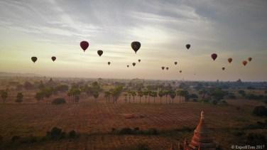 Hot air balloons over Bagan