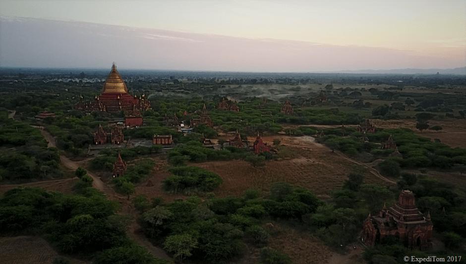 Dhammayazika Pagoda just outside of New Bagan where you turn left