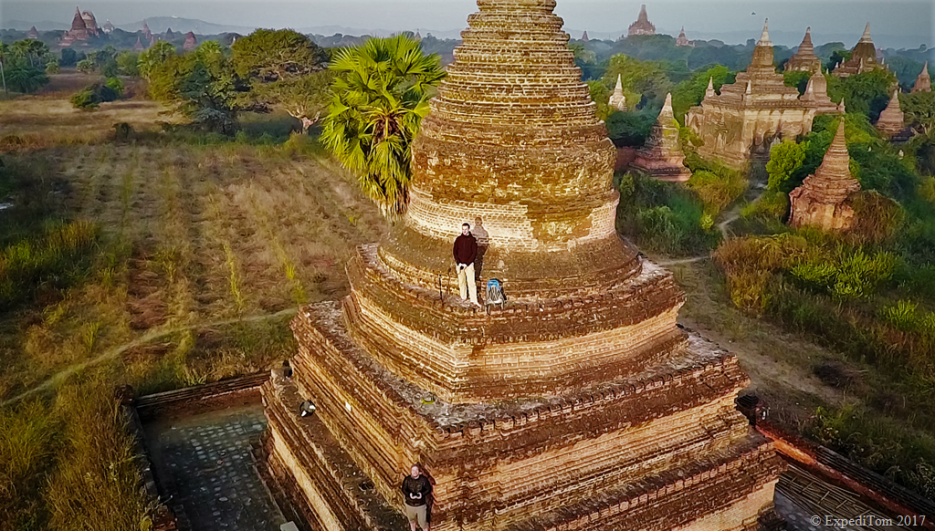 Climbing Pagodas after advise of locals