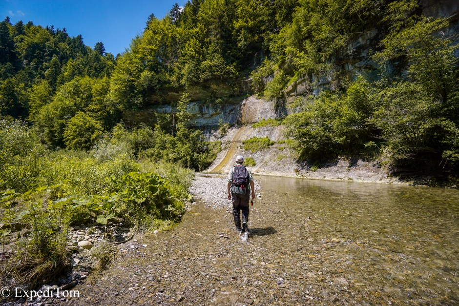 Lone Angler in paradise: Fly Fishing pristine rivers in Switzerland
